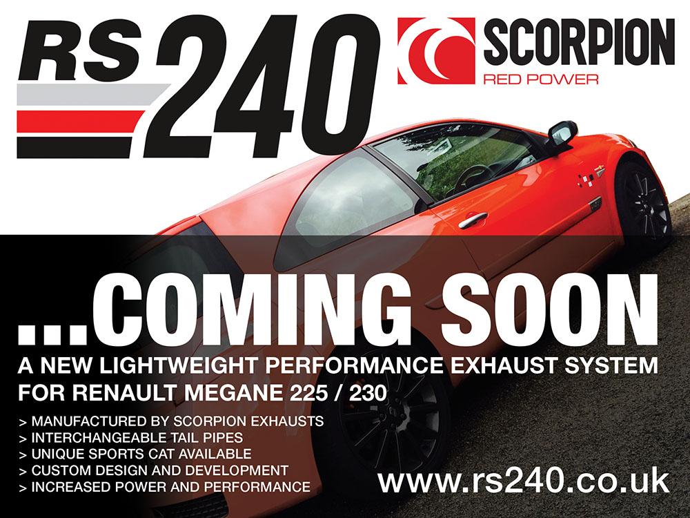 RS240 LIGHTWEIGHT PERFORMANCE MEGANE EXHAUST